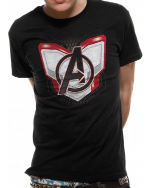 OFFICIAL AVENGERS ENDGAME - QUANTUM REALM SUIT UP BLACK T-SHIRT