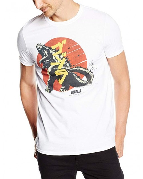 OFFICIAL GODZILLA - VINTAGE JAPAN STYLED WHITE T-SHIRT
