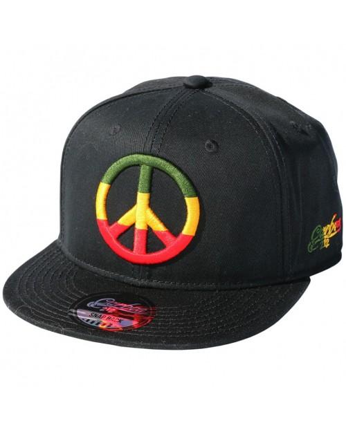 CARBON 212 PEACE SYMBOL BLACK SNAPBACK CAP
