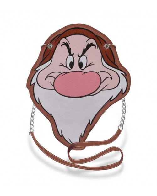 OFFICIAL DISNEY SNOW WHITE AND THE SEVEN DWARFS - GRUMPY FACE MINI SHOULDER BAG
