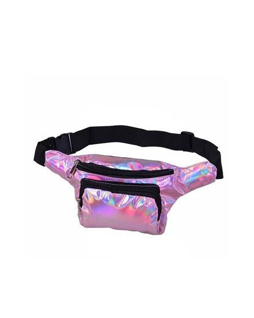 PINK HOLOGRAPHIC BUM BAG (FANNY PACK)