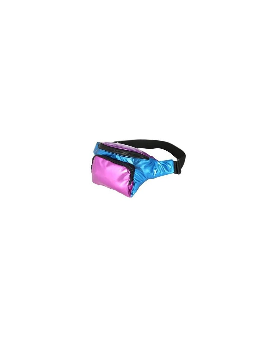 RETRO PURPLE AND BLUE HOLOGRAPHIC BUM BAG (FANNY PACK)