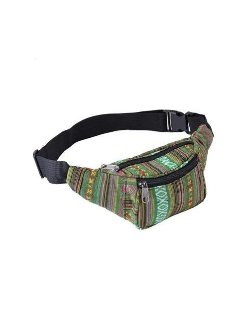 GREEN CANVAS BUM BAG (FANNY PACK)