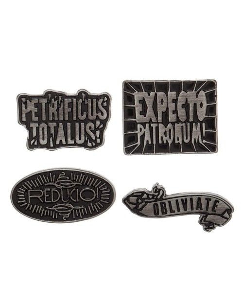 HARRY POTTER - SPELLS 4 PIECE PIN BADGE SET