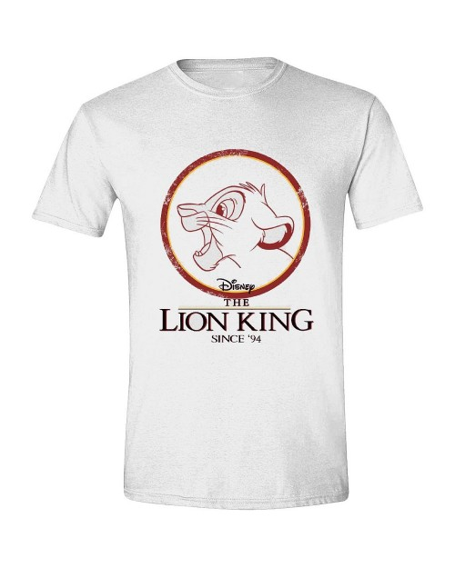 OFFICIAL DISNEY - THE LION KING SIMBA CIRCLE 94 WHITE T-SHIRT