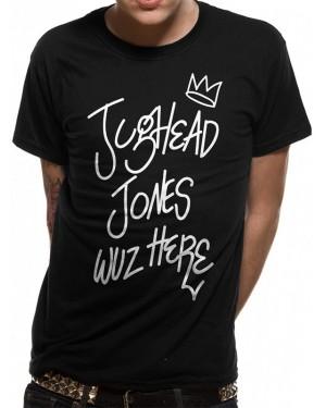 OFFICIAL ARCHIE COMICS - RIVERDALE JUGHEAD JONES WUZ HERE BLACK T-SHIRT