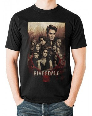 OFFICIAL ARCHIE COMICS - RIVERDALE TV POSTER BLACK T-SHIRT