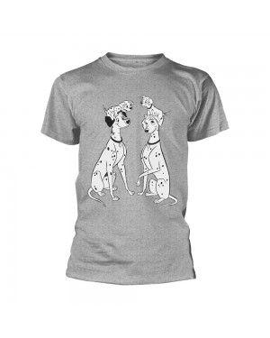 OFFICIAL DISNEY - 101 DALMATIANS PERDITA AND PONGO GREY T-SHIRT