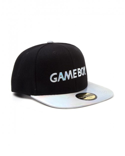 OFFICIAL NINTENDO GAME BOY IRIDESCENT LOGO BLACK SNAPBACK CAP