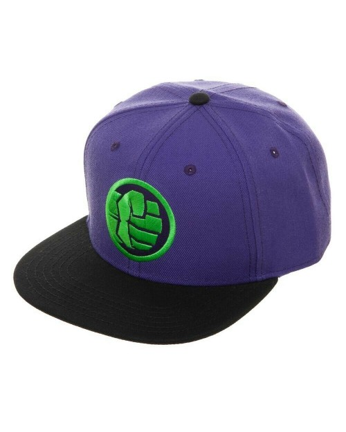 MARVEL COMICS - AVENGERS: ENDGAME THE INCREDIBLE HULK FIST SYMBOL PURPLE SNAPBACK CAP