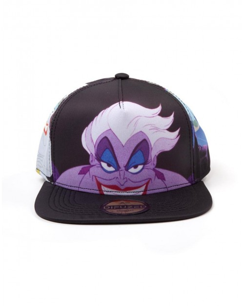 OFFICIAL DISNEY THE LITTLE MERMAID URSULA ALL OVER PRINT SNAPBACK CAP