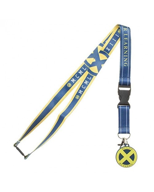 MARVEL COMICS X-MEN XAVIER INSTITUTE FOR HIGHER LEARNING PRINTED LANYARD