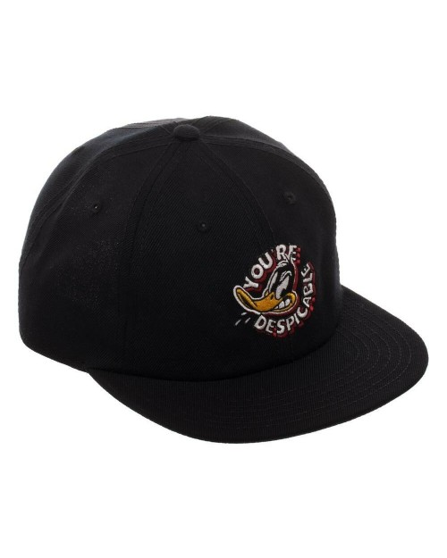 OFFICIAL LOONEY TUNES - DAFFY DUCK YOU'RE DESPICABLE BLACK SLOUCH STRAPBACK BASEBALL CAP