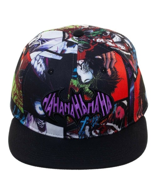 DC COMICS - BATMAN SYMBOL THE JOKER HAHAHA ALL OVER PRINT SNAPBACK CAP
