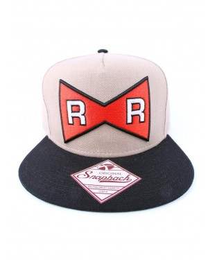 OFFICIAL DRAGON BALL Z - RED RIBBON ARMY SYMBOL BROWN SNAPBACK CAP