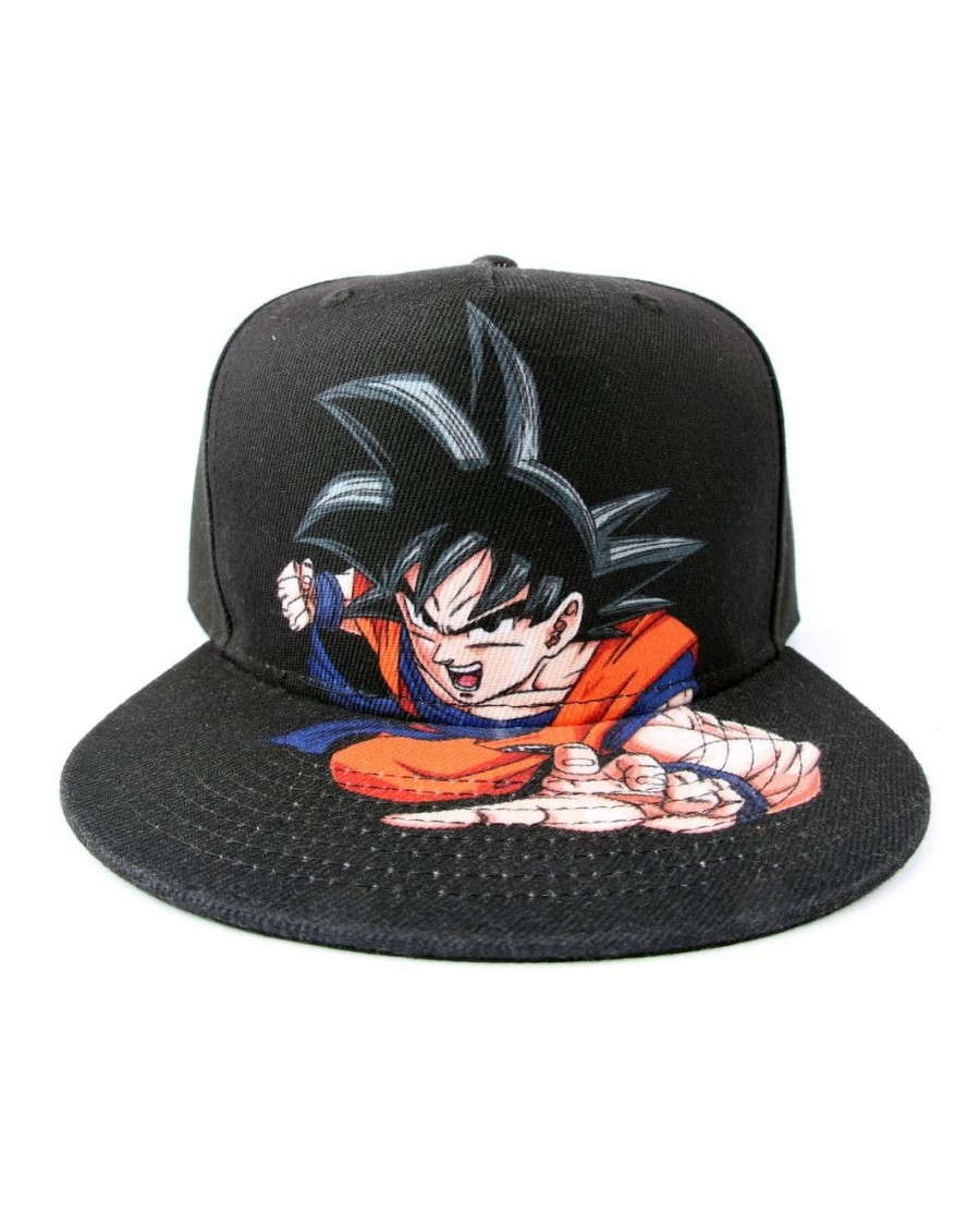 OFFICIAL DRAGON BALL Z - GOKU ATTACK BLACK SNAPBACK CAP
