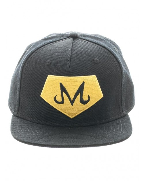 OFFICIAL DRAGON BALL Z - MAJIN SYMBOL BLACK SNAPBACK CAP WITH PRINTED VISOR
