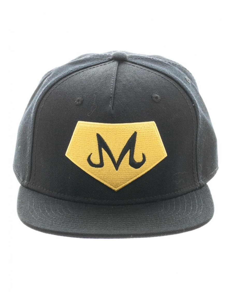OFFICIAL DRAGON BALL Z - MAJIN SYMBOL BLACK SNAPBACK CAP WITH PRINTED VISOR