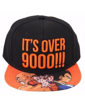 OFFICIAL DRAGON BALL Z - IT'S OVER 9000 VEGETA/ GOKU BLACK SNAPBACK CAP WITH PRINTED VISOR