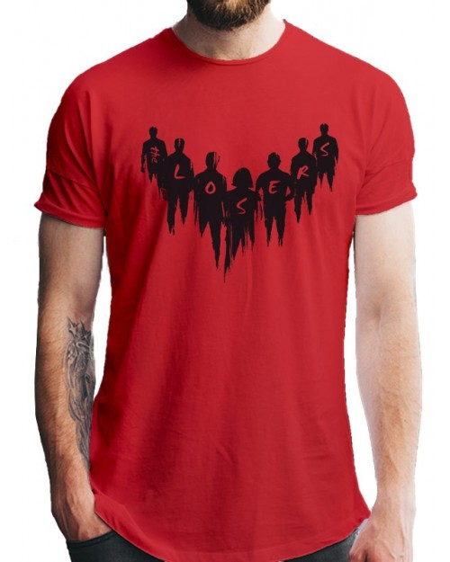OFFICIAL IT CHAPTER 2 - THE LOOSERS SILHOUETTE RED T-SHIRT