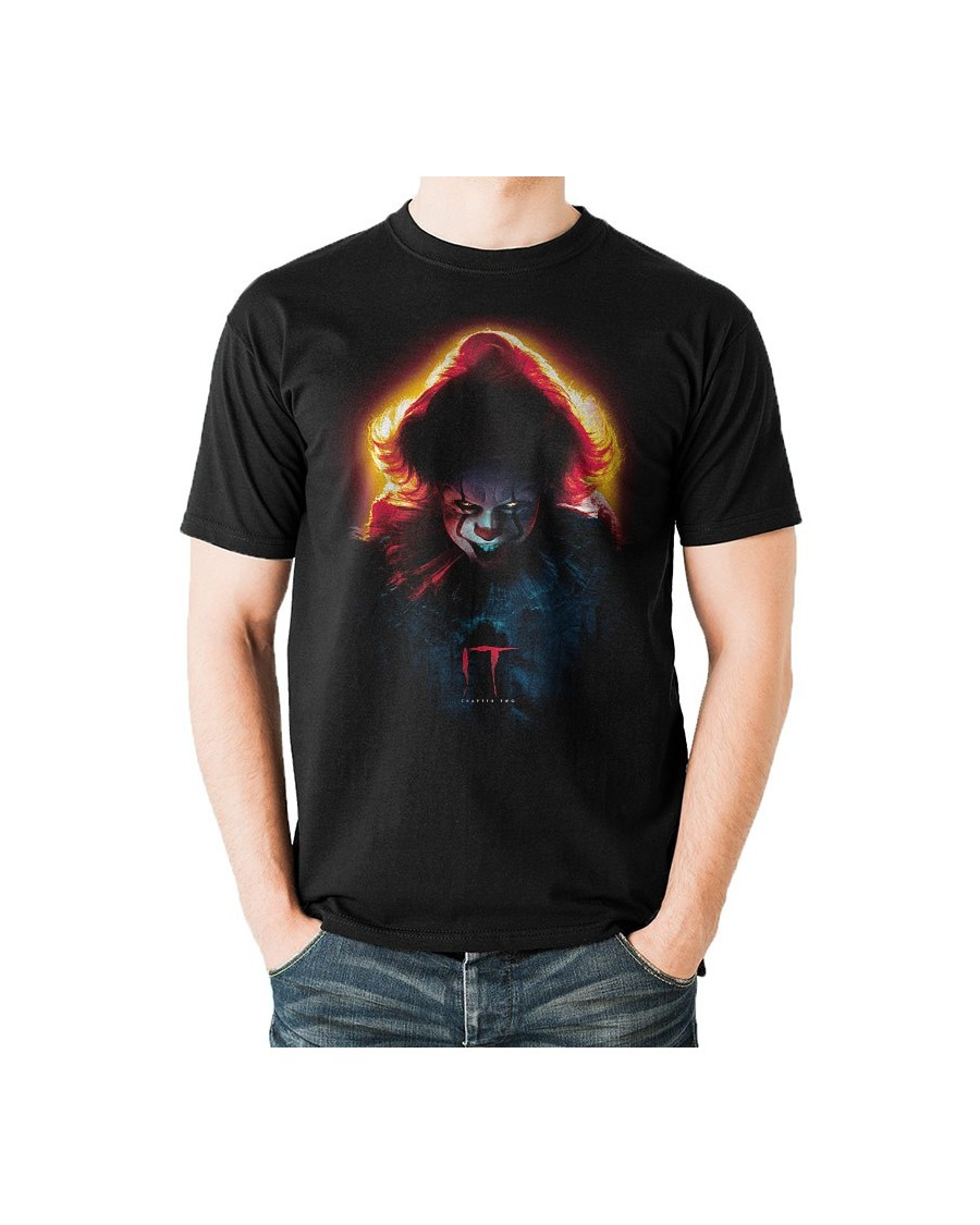 OFFICIAL IT CHAPTER 2 - PENNYWISE SINISTER PRINT BLACK T-SHIRT