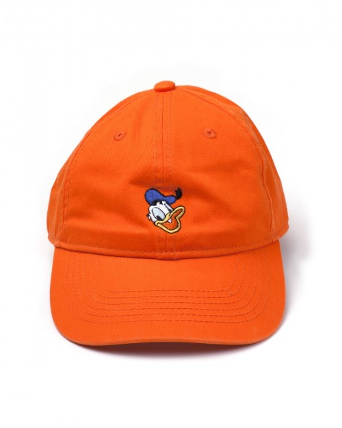 OFFICIAL DISNEY - DONALD DUCK ORANGE STRAPBACK BASEBALL CAP 'DAD HAT'
