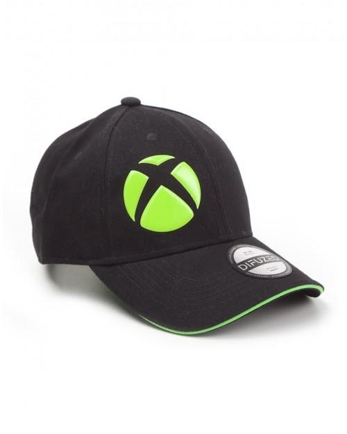 OFFICIAL XBOX SYMBOL BLACK BASEBALL STRAPBACK CAP