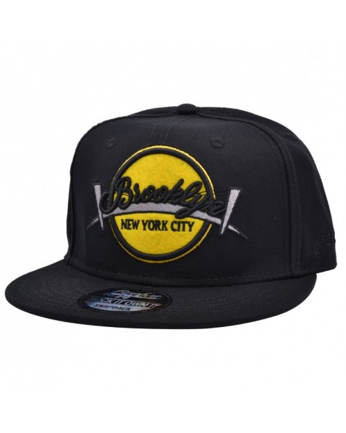 CARBON 212 BROOKLYN 'NEW YORK CITY' BLACK SNAPBACK CAP