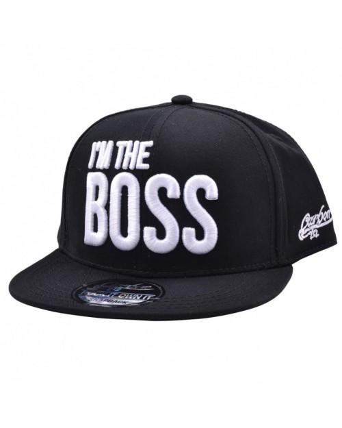 CARBON 212 I'M THE BOSS BLACK SNAPBACK CAP