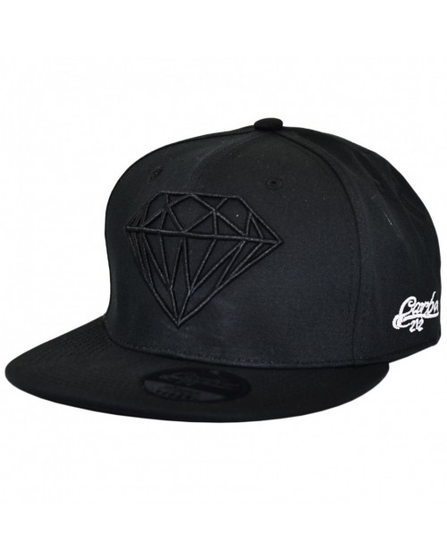 CARBON 212 DAIMOND BLACK SNAPBACK CAP