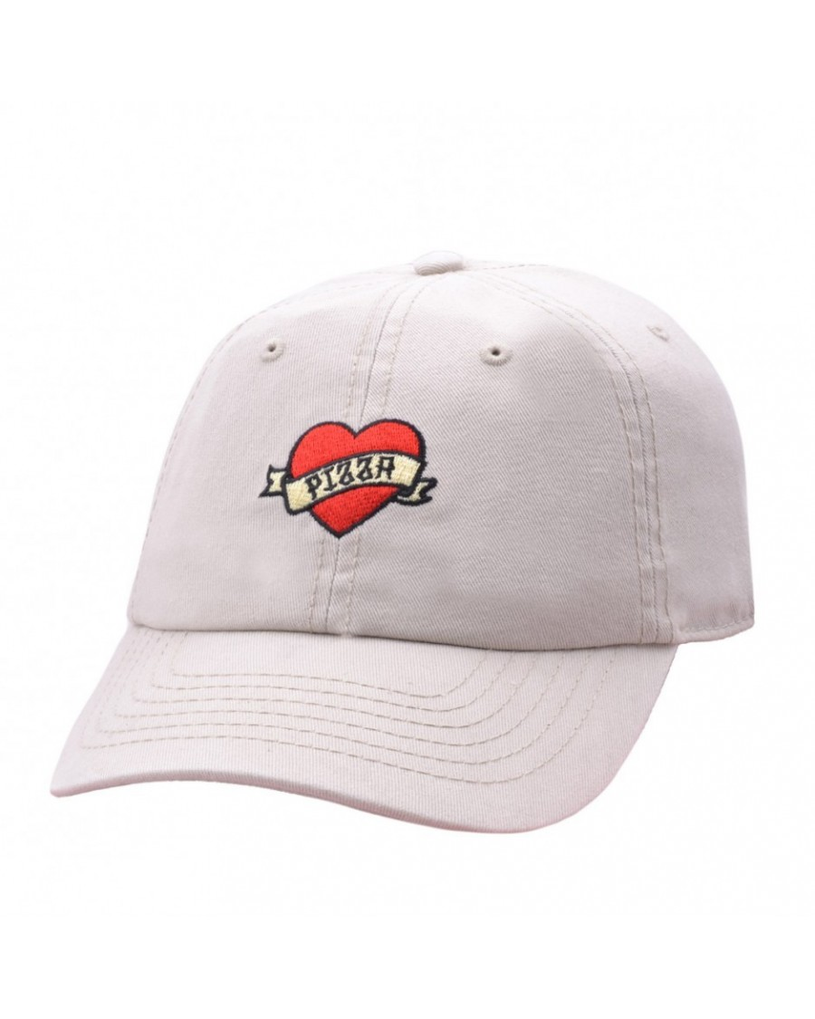 CARBON 212 - PIZZA HEART STONE BASEBALL CAP 'DAD HAT'