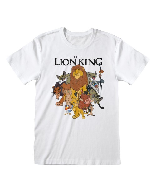 OFFICIAL DISNEY THE LION KING VINTAGE COLLAGE PRINT WHITE T-SHIRT