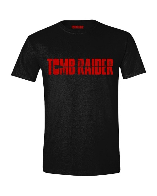 OFFICIAL TOMB RAIDER MOVIE LOGO PRINT BLACK T-SHIRT