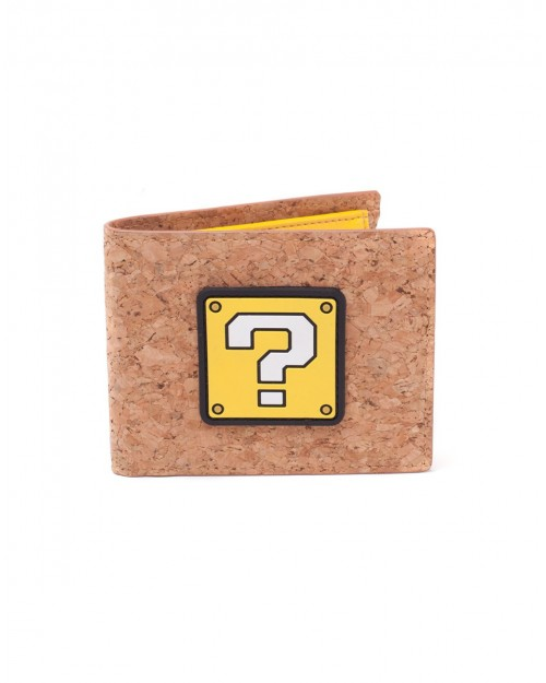 OFFICIAL NINTENDO - SUPER MARIO BROS QUESTION MARK BLOCK CORK STYLED WALLET