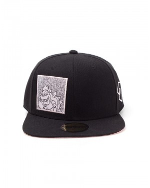 OFFICIAL NINTENDO - SUPER MARIO BROS BOWSER PINK PRINT EMBROIDERY BLACK SNAPBACK CAP