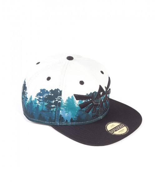 OFFICIAL NINTENDO THE LEGEND OF ZELDA TRIFORCE GREEN FOREST SNAPBACK CAP