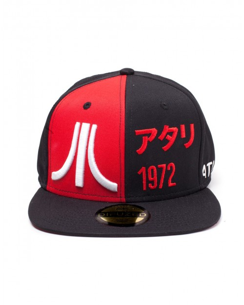 OFFICIAL ATARI SYMBOL & JAPANESE 1972 EMBROIDERY RED AND BLACK SNAPBACK CAP