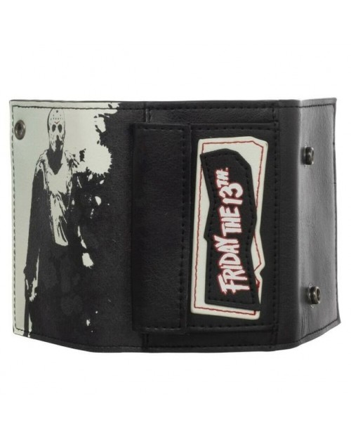 OFFICIAL FRIDAY THE 13TH JASON VOORHEES POSE TRI-FOLD WALLET WITH CHAIN