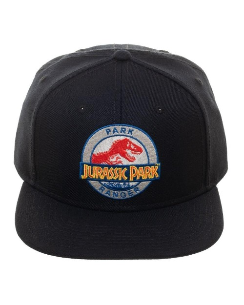 OFFICIAL JURASSIC PARK SYMBOL - PARK RANGER BLACK SNAPBACK CAP
