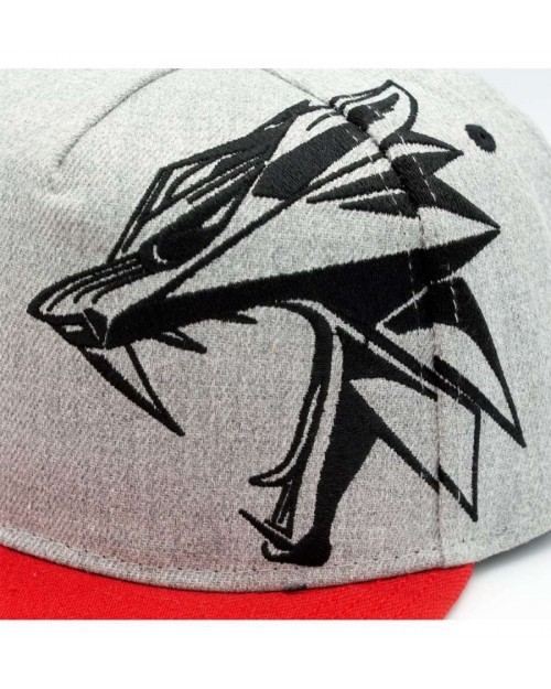 OFFICIAL WITCHER 3 MEDALLION WOLF & SIGNS GREY SNAPBACK CAP