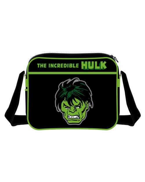THE INCEDIBLE HULK FACE MESSENGER BAG
