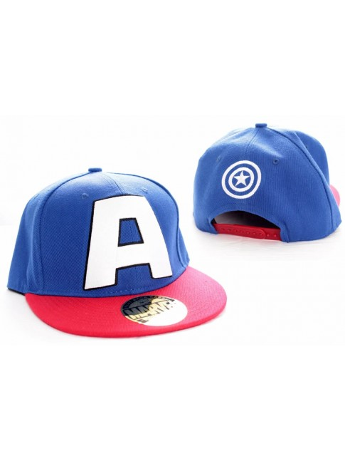 AWESOME MARVELS CAPTAIN AMERICA 'A' SNAPBACK CAP