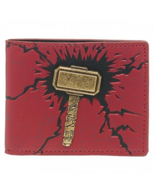 STUNNING MARVELS THOR: THE DARK WORLD HAMMER BI-FOLD WALLET