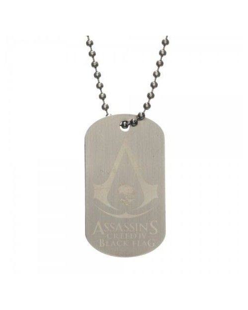 ASSASSINS CREED IV BLACK FLAG DOG TAG PENDANT NECKLACE
