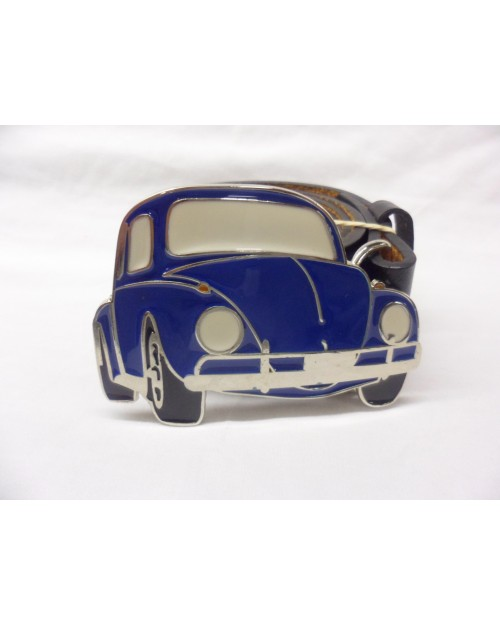 COOL BLUE AWESOME BEATLE CLASSIC CAR BUCKLE with BELT