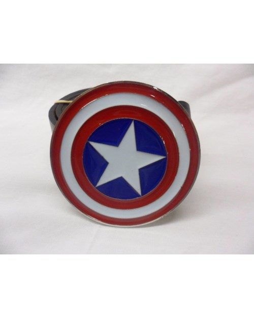 CAPTAIN AMERICA RED, WHITE & BLUE SHIELD BUCKLE with BELT