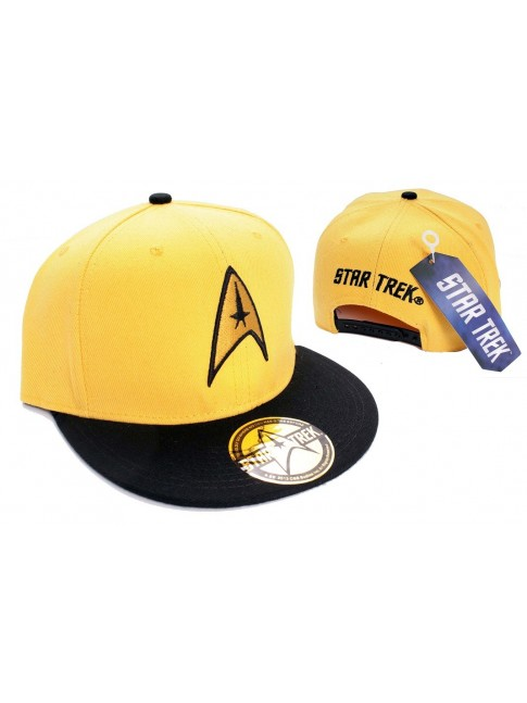 YELLOW STAR TREK STARFLEET COMMAND SNAPBACK CAP