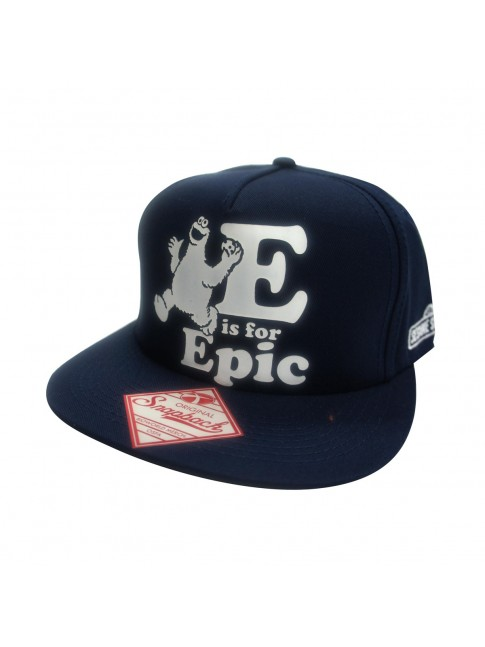 COOL SESAME STREET COOKIE MONSTER E IS FOR EPIC SNAPBACK CAP.