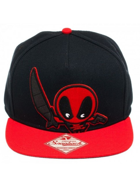 AWESOME MARVEL DEADPOOL CUTE KAWAII SNAPBACK CAP.