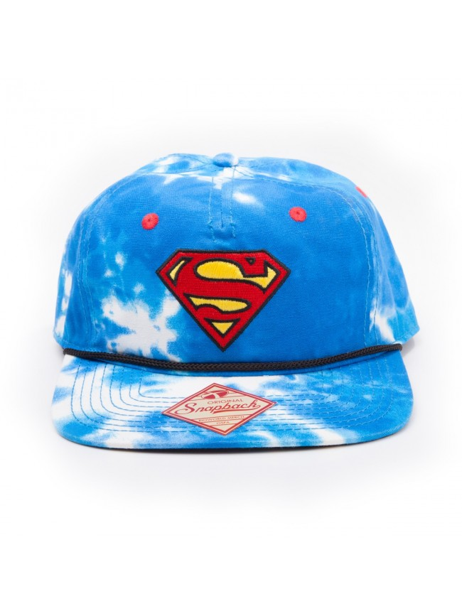 ae5436ef AWESOME DC COMICS SUPERMAN SKY & LOGO ALL-OVER-PRINT SNAPBACK CAP ...